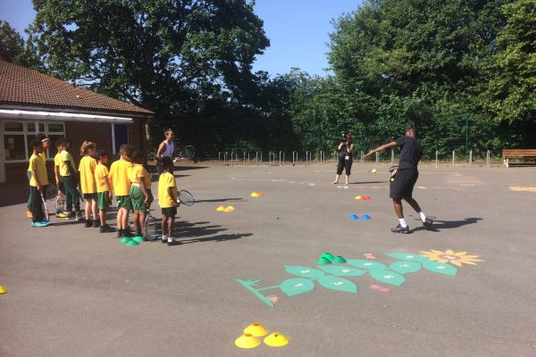 Heather Watson visits The Sherwood School, GIYM Merton Programme - June 2019