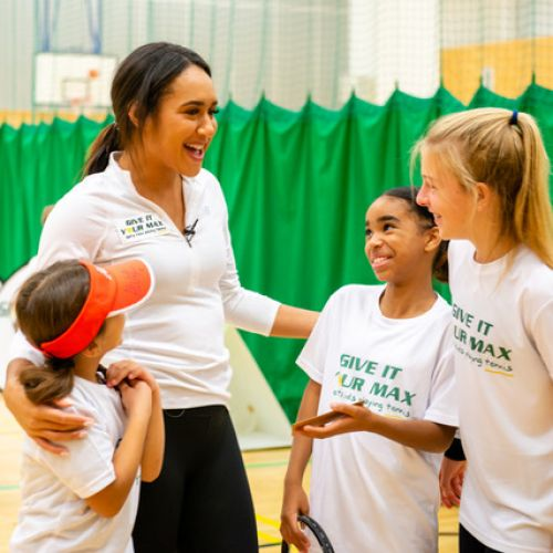 Give It Your Max Player Ambassador, Heather Watson, visits Grenfell Community Programme