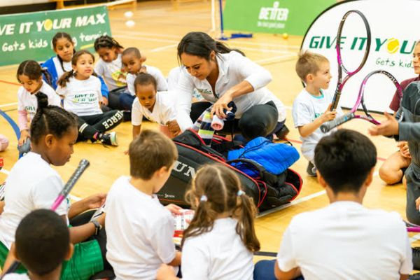 Heather Watson visit to Grenfell Community Programme - October 2019